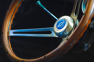 1967 Chevrolet Camaro Ss 350 Steering Wheel Emblem Art Print