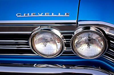 1967 Chevrolet Chevelle Super Sport Headlight Print by Jill Reger
