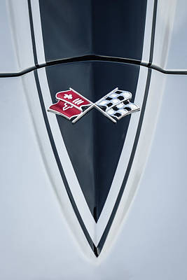 Corvette Photograph - 1967 Chevrolet Corvette Coupe Hood Emblem by Jill Reger