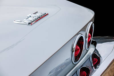 Photograph - 1967 Chevrolet Corvette Coupe Taillight Emblem by Jill Reger