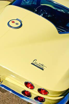 Photograph - 1967 Chevrolet Corvette Rear View by Jill Reger