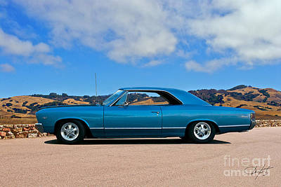 Mountain Landscape Royalty Free Images - 1967 Chevrolet Malibu Royalty-Free Image by Dave Koontz
