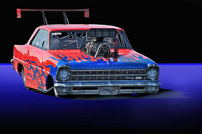 1967 Chevrolet Nova Ss Pro Mod Art Print by Dave Koontz