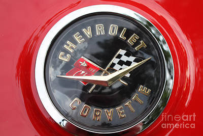 Photograph - 1967 Chevy Corvette Emblem by John Telfer