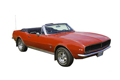 Photograph - 1967 Convertible Red Camaro Muscle Car by Keith Webber Jr