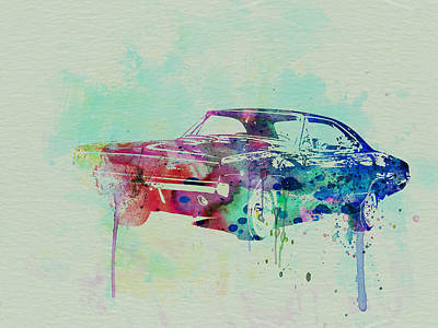 American Cars Drawing - 1967 Dodge Charger  2 by Naxart Studio