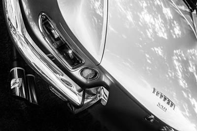 Photograph - 1967 Ferrari 330 Gts Taillight Emblem -0406bw by Jill Reger