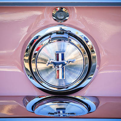 1967 Ford Mustang Gas Cap Emblem -0053c Art Print by Jill Reger