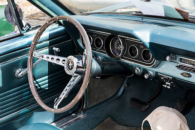 1967 Ford Mustang Interior  Art Print
