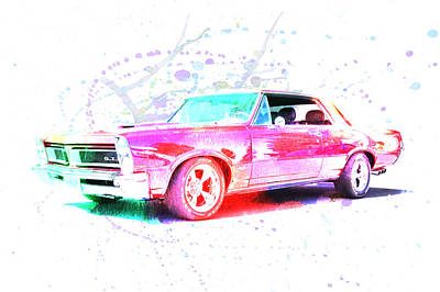 Photograph - 1967 Gto Splash by Steve McKinzie