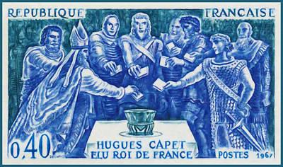1967 Hugues Capet Elected King Of France Art Print