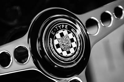 Photograph - 1967 Jaguar E-type Series I 4.2 Roadster Steering Wheel Emblem by Jill Reger
