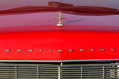 Photograph - 1967 Lincoln Continental Hood Ornament Grille Emblem by Jill Reger