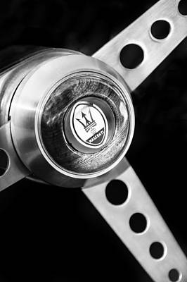 Photograph - 1967 Maserati Ghibli Coupe Grille Emblem by Jill Reger
