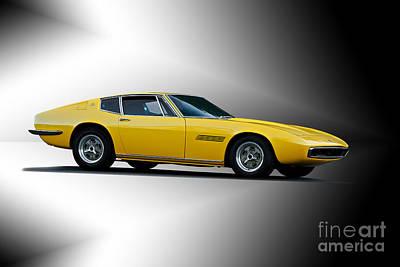 Comic Character Paintings - 1967 Maserati Ghilbi III by Dave Koontz