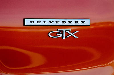 Photograph - 1967 Plymouth Gtx Belvedere Emblem by Jill Reger