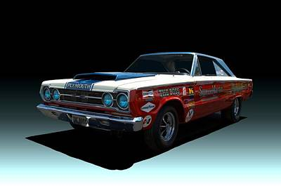 Photograph - 1967 Plymouth Gtx  Stock Car by Tim McCullough