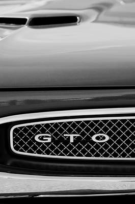 Photograph - 1967 Pontiac Gto Grille Emblemq by Jill Reger