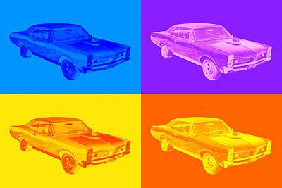 Photograph - 1967 Pontiac Gto Muscle Car Pop Art by Keith Webber Jr