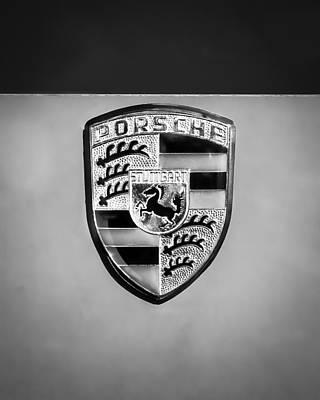 Car Emblem Photograph - 1967 Porsche 911 Factory Race Car Emblem by Jill Reger