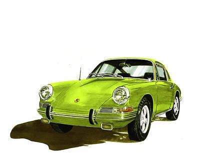 Porsche 911 Sportscar Art Print