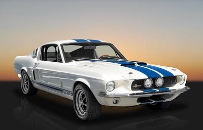 Photograph - 1967 Shelby Mustang Gt-350 With A Paxton Supercharger by Frank J Benz