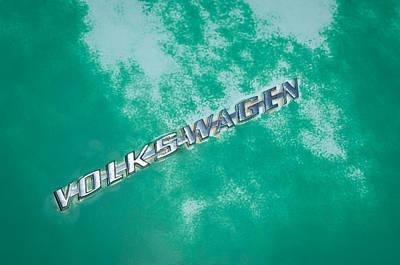 Photograph - 1967 Volkswagen Vw Bug Emblem by Jill Reger