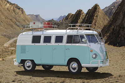 Campers Digital Art - 1967 Vw Bus by Mike McGlothlen