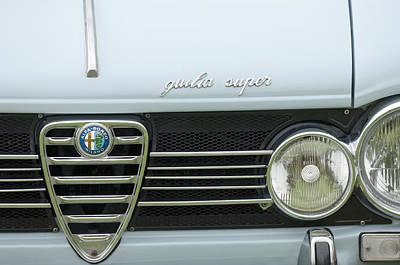 Photograph - 1968 Alfa Romeo Giulia Super Grille by Jill Reger