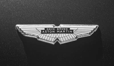 Photograph - 1968 Aston Martin Db6 Coupe Emblem -0335bw by Jill Reger