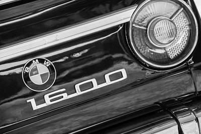 Photograph - 1968 Bmw 1600 Cabriolet Taillight Emblem -0583bw by Jill Reger
