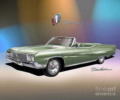 Buick Drawing - 1968 Buick Electra 225  by Danny Whitfield