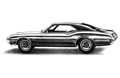 Buick Drawing - 1968 Buick Riviera by Nick Toth