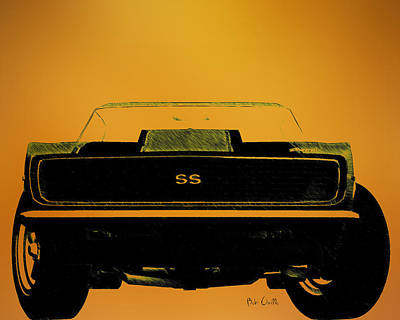 Drawing - 1968 Camaro Ss Head On by Bob Orsillo
