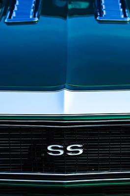 1968 Camaro Photograph - 1968 Chevrolet Camaro Ss Grille Emblem by Jill Reger