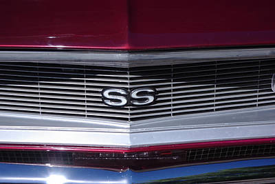Photograph - 1968 Chevy Camaro Ss Grill by Robyn Stacey