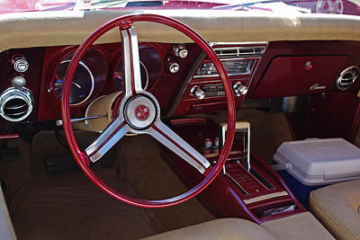Photograph - 1968 Chevy Camaro Ss Interior by Robyn Stacey
