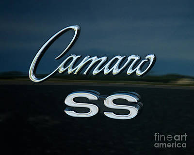 Photograph - 1968 Chevy Camaro Ss Logo by Mark Dodd