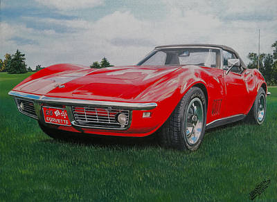 Painting - 1968 Corvette by Branden Hochstetler