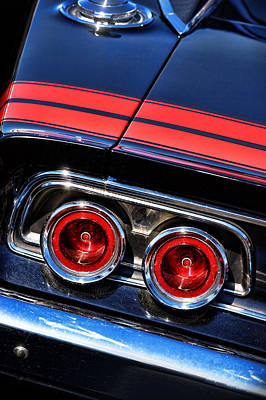 Photograph - 1968 Dodge Charger R/t Tail Lights by Gordon Dean II