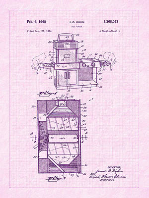 Inventor Photograph - 1968 Easy Bake Toy Oven Patent Art by Barry Jones