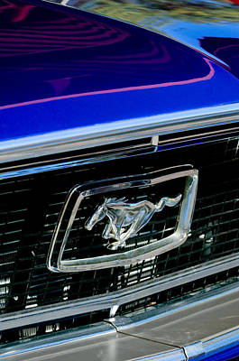 Photograph - 1968 Ford Mustang Cobra Gt 350 Grille Emblem by Jill Reger
