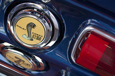 1968 Ford Mustang - Shelby Cobra Gt 350 Taillight And Gas Cap Art Print by Jill Reger
