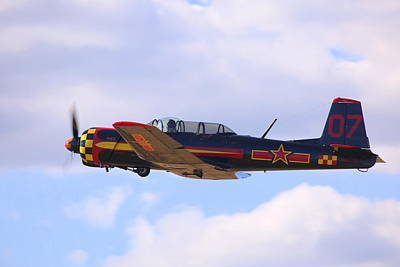 Photograph - 1968 Nanchang Cj-6 Fly-by N221yk by John King
