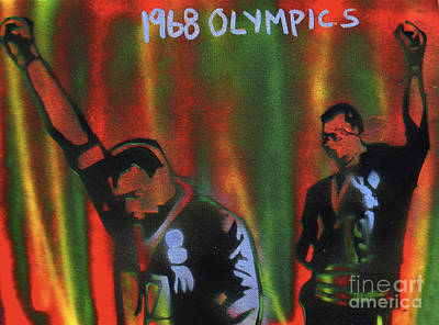 Famous Stencils Painting - 1968 Olympics by Tony B Conscious