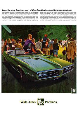 Motown Digital Art - 1968 Pontiac Firebird - Wide Track Pontiacs by Digital Repro Depot