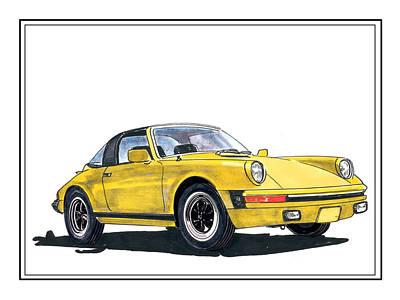 1968 Porsche Targa Original by Jack Pumphrey