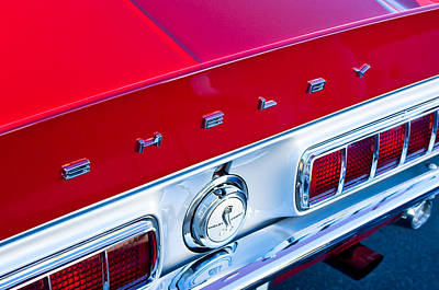 Photograph - 1968 Shelby Cobra Gt Taillights And Emblem by Jill Reger
