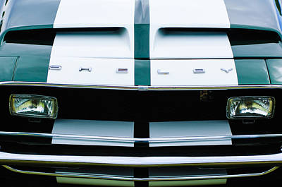 Photograph - 1968 Shelby Gt500 Fastback Grille Emblem by Jill Reger