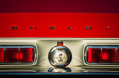 Photograph - 1968 Shelby Gt500 Kr Fastback Rear Emblem - Taillights -1085c by Jill Reger